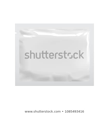 White Sachet bag package For Coffee, Salt, Sugar, Pepper, Spices, Sachet, Sweets, Chips Stock photo © netkov1