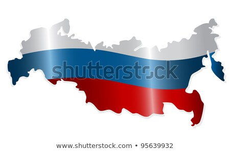 Russian Flag and Map Stock photo © Bigalbaloo