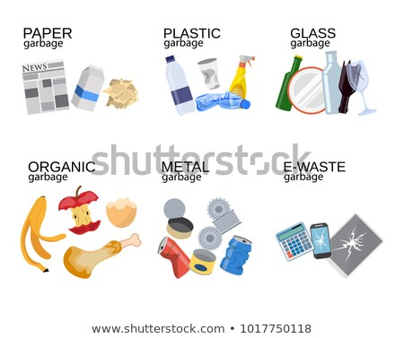 Recycle Bin Yellow Vector Icon Design Stock photo © rizwanali3d