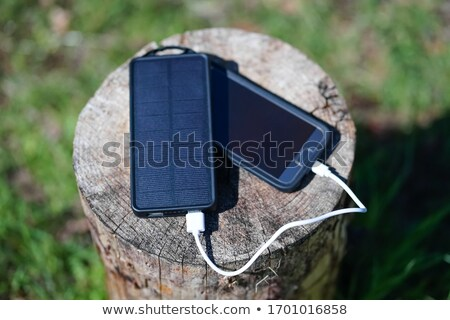 Portable solar charger Stock photo © jordanrusev