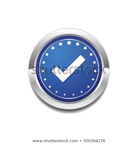 Tick Mark Circular Blue Vector Web Button Icon Stock photo © rizwanali3d