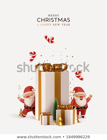 3d · render · piros · fehér · ünnep · ajándékok · szalagok - stock fotó © mariephoto