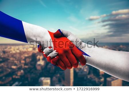 France Népal drapeaux puzzle isolé blanche Photo stock © Istanbul2009