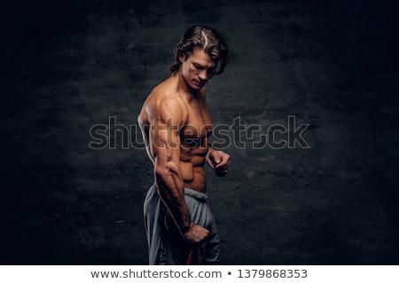 魅力的な 男 重量 セクシー 男性 ストックフォト © ra2studio