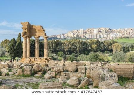 Antigo grego templo deus sicília Itália Foto stock © ankarb