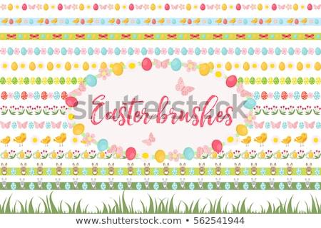 Natureza ovos de páscoa branco eps 10 Foto stock © limbi007