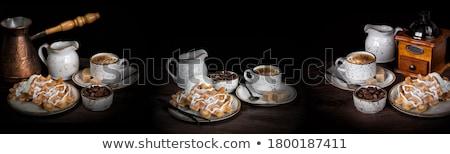 Waffle ile Siyah Kahve Stok fotoğraf © Epitavi