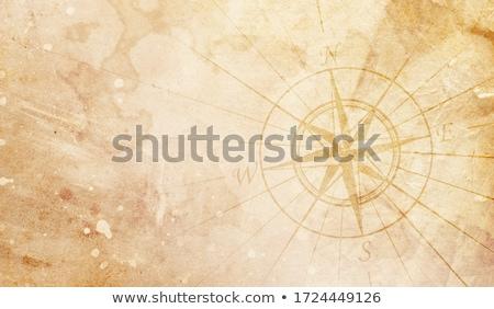 bussola · destinazione · mappa · mare · terra - foto d'archivio © lightsource