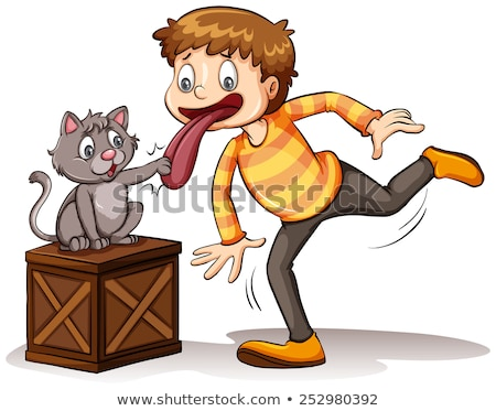 A cat got your tongue idiom Stock photo © bluering