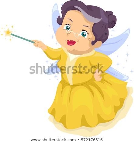 фея · иллюстрация · женщины · белый · платье · улыбаясь - Сток-фото © dazdraperma