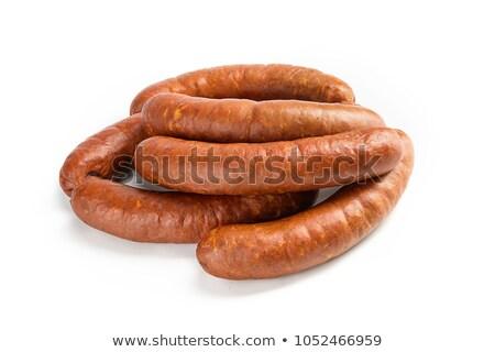 Fumado em presunto carne mercearia fundo branco Foto stock © Digifoodstock