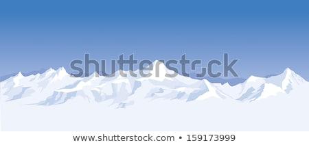 górskich · chmury · stylizowany · góry · obraz - zdjęcia stock © adrian_n