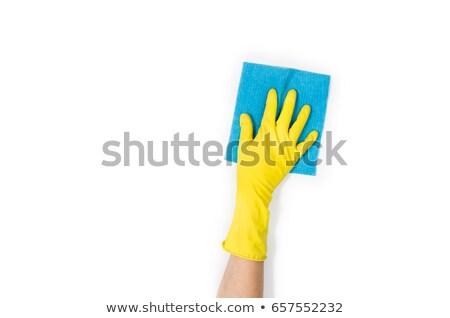 Female hand cleaning surface Stock photo © zurijeta