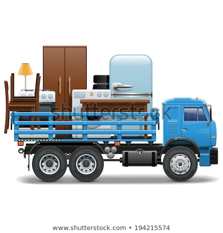 Lorry loaded with furnitures and appliances Stock photo © bluering