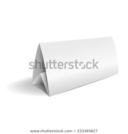 Name on triangle folded paper Stock photo © bluering