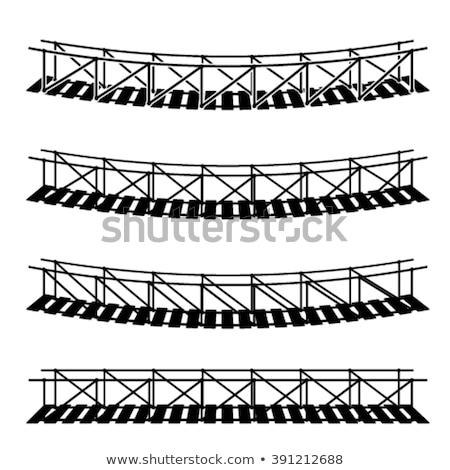 Foto stock: Cuerda · puente · agua · nubes · hierba · paisaje