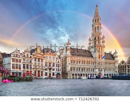Historisch gebouwen oude binnenstad Brussel België hemel Stockfoto © artjazz
