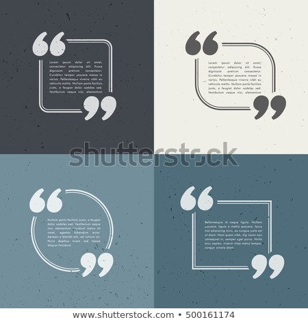 set of four quotation marks in different styles Stock photo © SArts