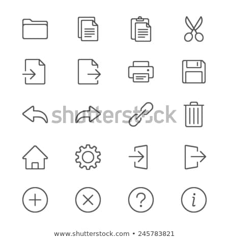 Paste image line icon. Stock photo © RAStudio