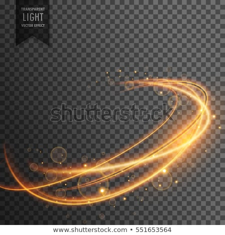 magical golden light effect on transparent backgorund Stock photo © SArts