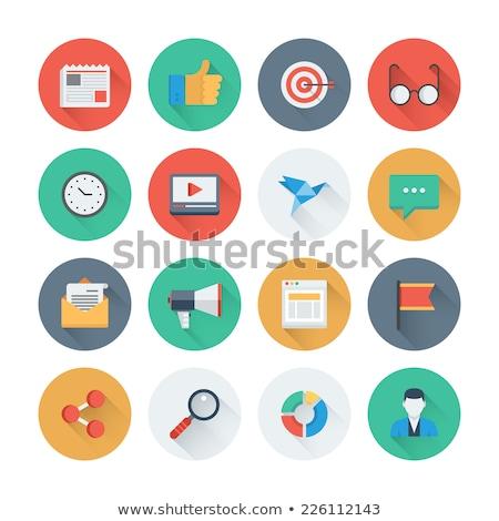 Establecer hasta analítica icono diseno negocios Foto stock © WaD
