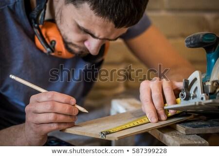carpintero · herramientas · edificio · plan · foto · papel - foto stock © snowing