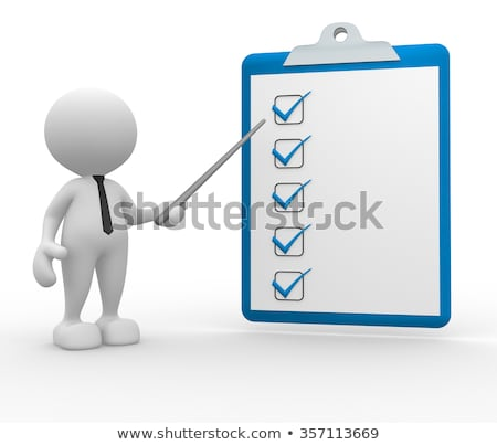 Zdjęcia stock: Clipboard With Production Plan 3d