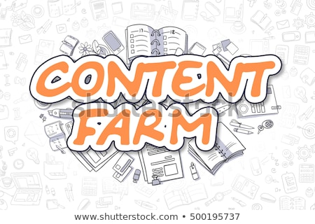 Stock photo: Content Farm Concept with Doodle Design Icons.