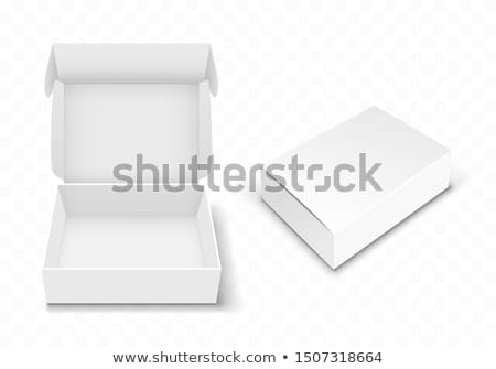 3d illustration of Realistic White Package Cardboard Box. For your products. Stock photo © tussik