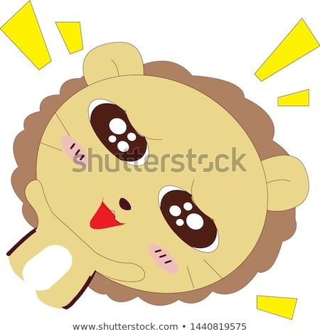 ライオン アバター 顔 幸せ 感情 ストックフォト © popaukropa