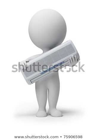 3d small people - conditioner Stock photo © AnatolyM