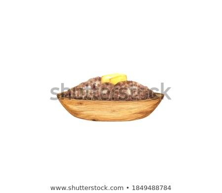 Granen plaat geïsoleerd gezonde voeding ontbijt voedsel Stockfoto © MaryValery
