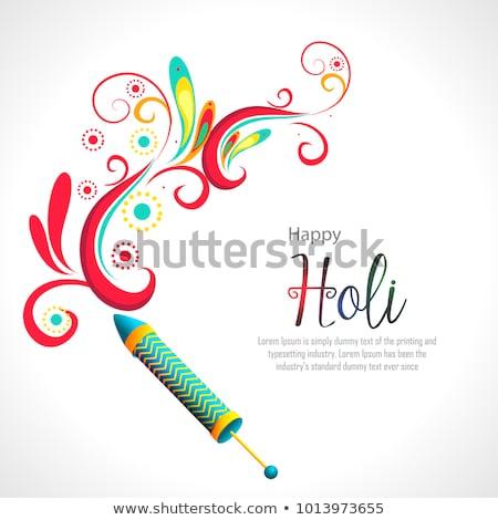 happy holi festival greeting design background Stock photo © SArts