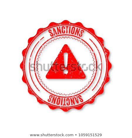 Circular Rubber Stamp With Text Sanction Vector Illustration Сток-фото © kup1984