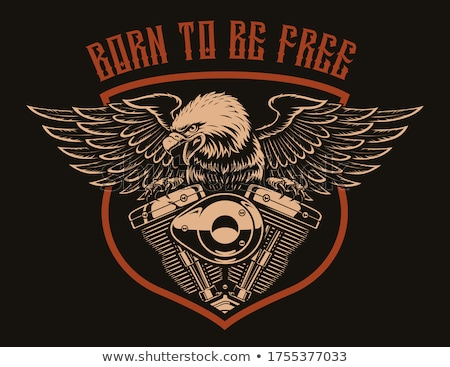 custom chopper motorcycle theme vector art logo Stock photo © vector1st