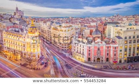 Madrid busy street, Spain Stock photo © joyr