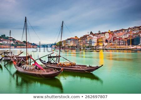 skyline · kabel · auto · rivier · Portugal · water - stockfoto © joyr