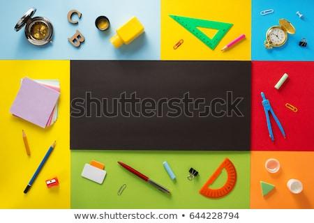Design colorato matita gesso nero Foto d'archivio © articular