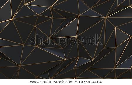 Preto ouro abstrato 3D futurista rico Foto stock © SmirkDingo