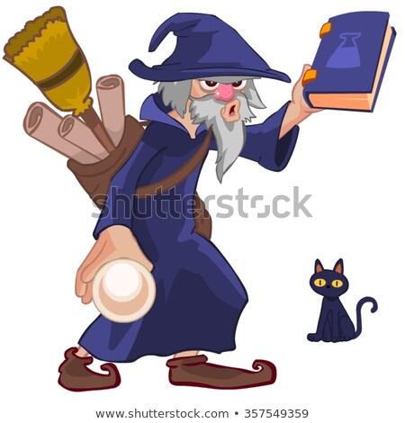 Cartoon заклинание иллюстрация улыбаясь магия Сток-фото © cthoman