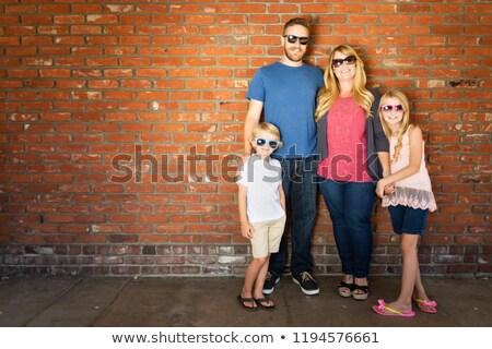 çekici · güneş · gözlüğü · kız · adam - stok fotoğraf © feverpitch