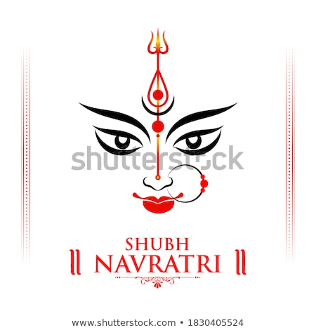 goddess durga face in happy durga puja background stock photo © vectomart