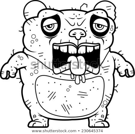 устал уродливые Panda Cartoon иллюстрация несут Сток-фото © cthoman