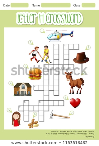 Letra h palavras cruzadas modelo ilustração arte padrão Foto stock © bluering