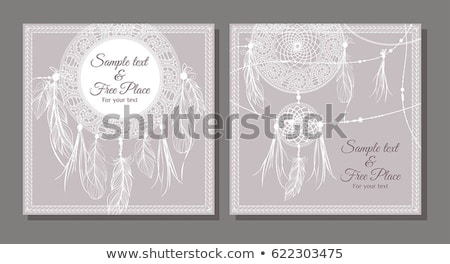 Holiday event card boho frames template set  Stock photo © cienpies