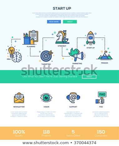 Visie start omhoog ondersteuning startup idee Stockfoto © robuart