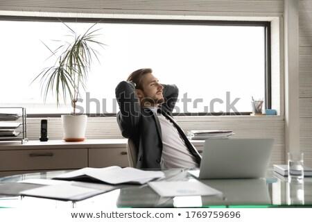 Empresário escritório pensar futuro dobrar exposição Foto stock © alphaspirit