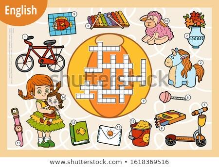 заклинание английский слово велосипед иллюстрация школы Сток-фото © bluering