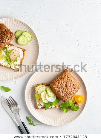 Maison pain fraîches herbes radis Photo stock © Peteer