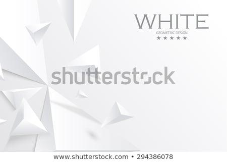 白 抽象的な 三角形 3D 3dのレンダリング 実例 ストックフォト © djmilic